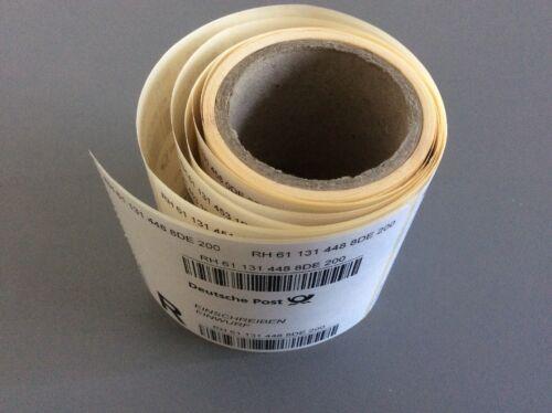 10x Einschreiben Einwurf BriefaufkleberAufkleber Sticker Label Briefmarken