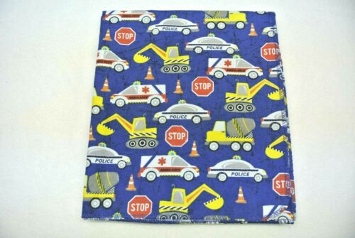 Police Cars Ambulances Backhoes Cement Baby Blanket Can Be Personalized 36x40