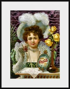 Details about 1890s Coca Cola Advertisement NEW fine art giclee print Hilda  Clark Old Coke Ad