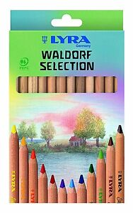 Lyra-Super-Ferby-Colouring-Pencils-Waldorf-Assorted-Colours-Pack-of-12