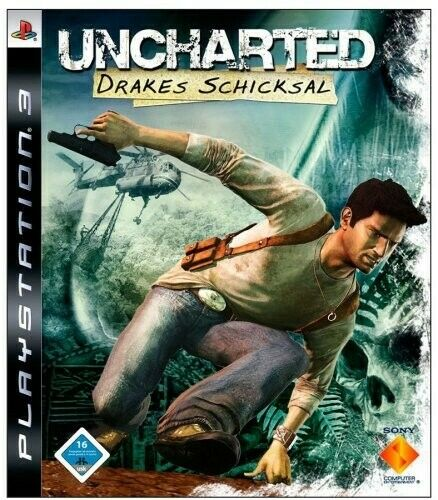 PS3 Uncharted Drakes Schicksal / Drake's Fortune AL/ANG dans l'emballage utilisé