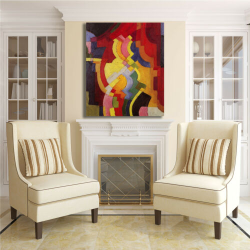 Macke farbige formen 3 design quadro stampa tela dipinto telaio arredo casa