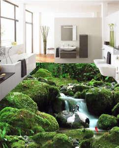 gr nes moos fels wei 3d fu boden wandgem lde foto. Black Bedroom Furniture Sets. Home Design Ideas