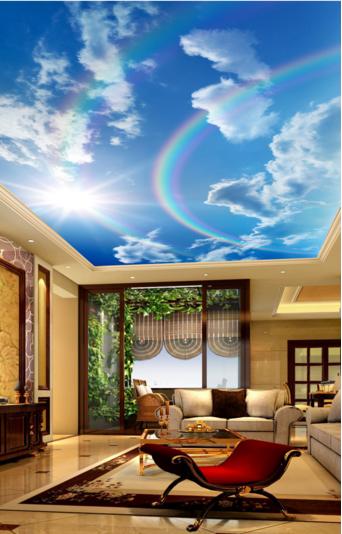 3D Himmel Regenbogen 4 Fototapeten Wandbild Fototapete BildTapete DE Lemon