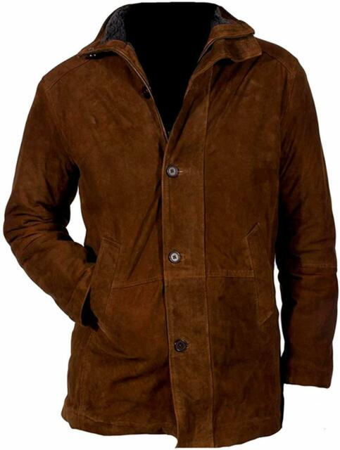 Robert Taylor Brown Suede Genuine Leather Sheriff Walt Longmire Coat Jacket