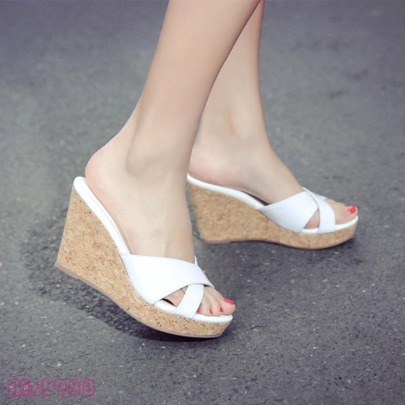 New Womens Open Toe Platform High Wedge Heels Slippers Sandal Shoes Fashion new