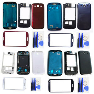 For-Samsung-Galaxy-S3-i9300-Full-Housing-Case-Screen-Glass-Lens-Tools-New