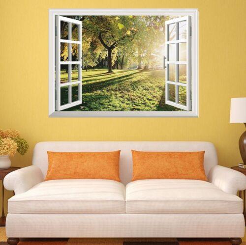 3D Window Wall Sticker Big Tree Sunshine Vinyl Decor Mural Art Home Removable