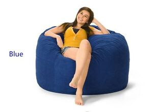 Image Is Loading Blue Bean Bag Chair Lazy Boy Sofa For