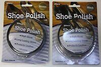 SHOE POLISH PASTE CHOICE OF BROWN OR BLACK 1.76OZ TIN HIGH GLOSS LASTING SHINE