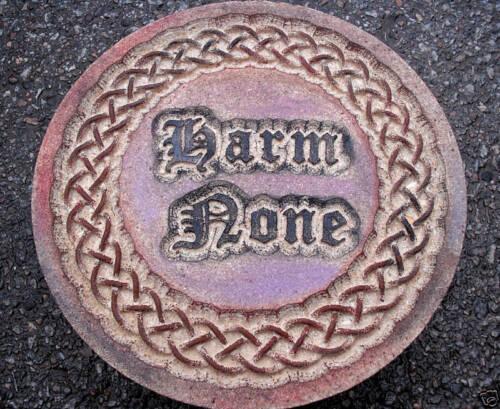 Celtic Harm None plaster concrete mold