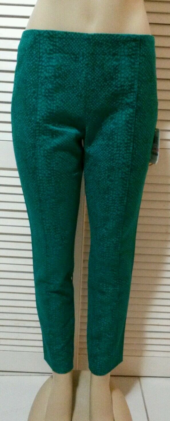 INC International Concepts Pants GEO, Skinny Snake-Print Side-Zip Size 10