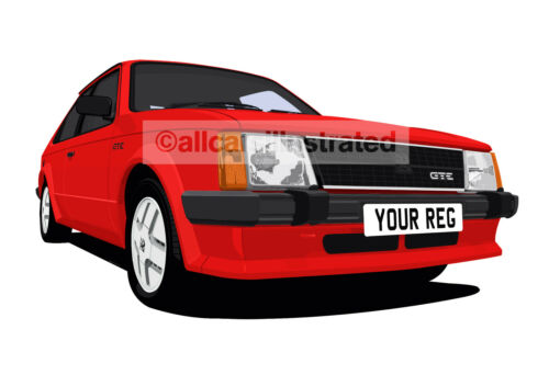 VAUXHALL ASTRA GTE MK1 CAR ART PRINT PICTURE PERSONALISE IT! SIZE A4