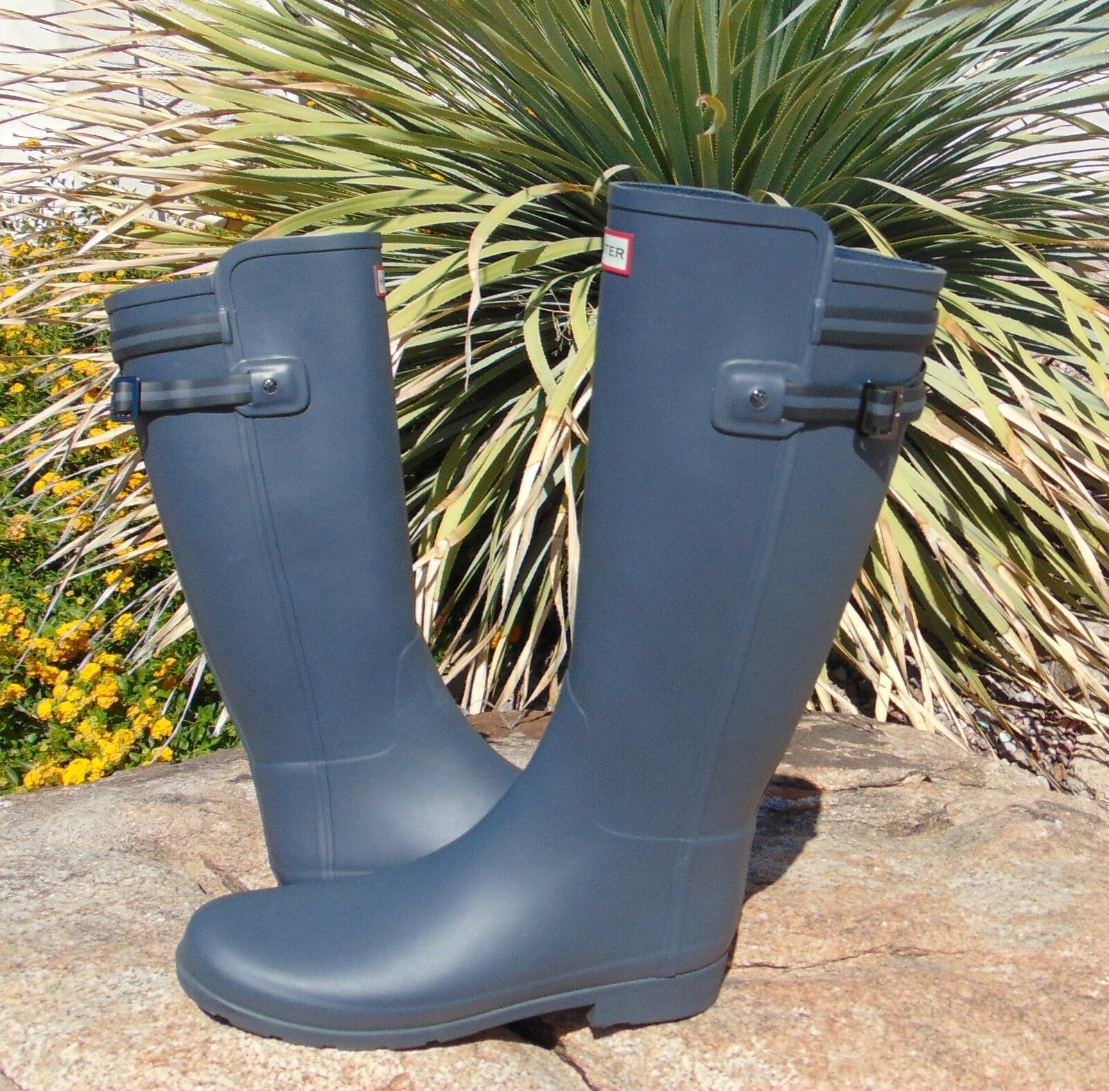 New HUNTER Original Refined Backstrap Backstrap Backstrap Stripe Rain Boots 43/11 Donna d3ac65