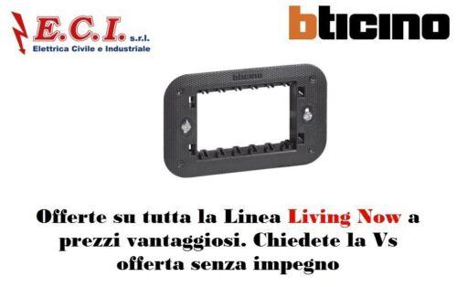 Bticino Living Now K4703 Supporto 3 moduli fornito con valva di protezione