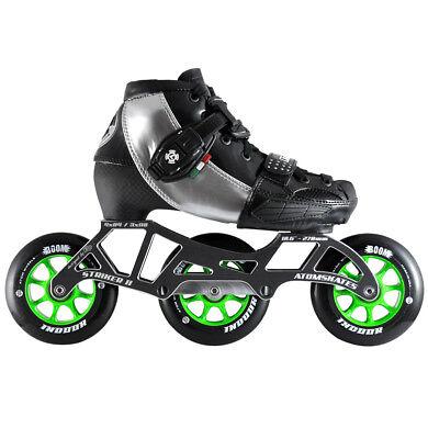 Luigino Kids Mini Challenge Blue 3 Wheel Adjustable Inline Speed Skate
