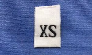 50 PCS WHITE TAFFETA WOVEN CLOTHING LETTER SIZE TAG LABEL SIZE 2XL