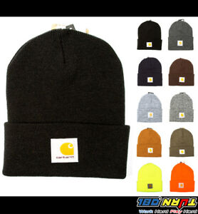 Carhartt Mens Acrylic Watch Hat A18 Rib Knit Beanie Cap Warm Ski ... c4df4763b9c5