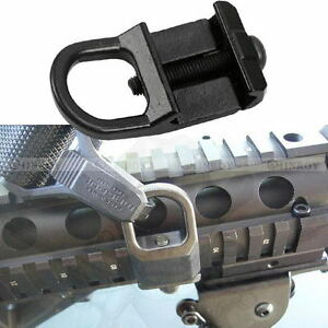 Steel-Low-Profile-Rifle-Sling-Mount-Plate-20mm-Picatinny-Rail-Adapter-Black