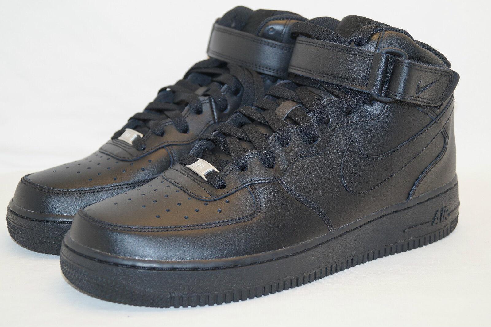 Nike Air Force 1 AF - 1 a mediados de 2007 gr.45 UK 10 negro monocromatografía
