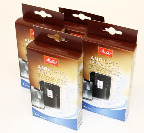 4 Packs Melitta Anti Calc poudre Machines à Espresso 8 sachets au total 6545499X4