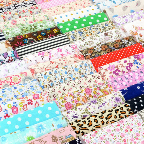100PCS Square Floral 100/% Cotton Fabric Quilting Clothes Bedding Sewing 10x10cm