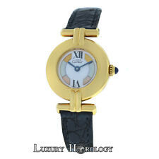 Must de Cartier Colisee Paris Vermeil 590002 Gold Plate Silver Quartz 24mm Watch