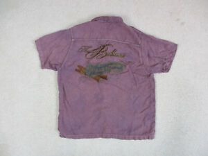 Tommy-Bahama-Button-Up-Shirt-Adult-Medium-Purple-Paradise-Every-Puff-Embroidery