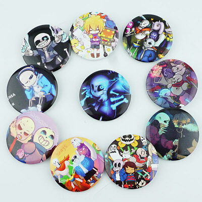 Game Undertale Sans Papyrus Badge Pins PVC Button Brooches Cosplay Fans Gift