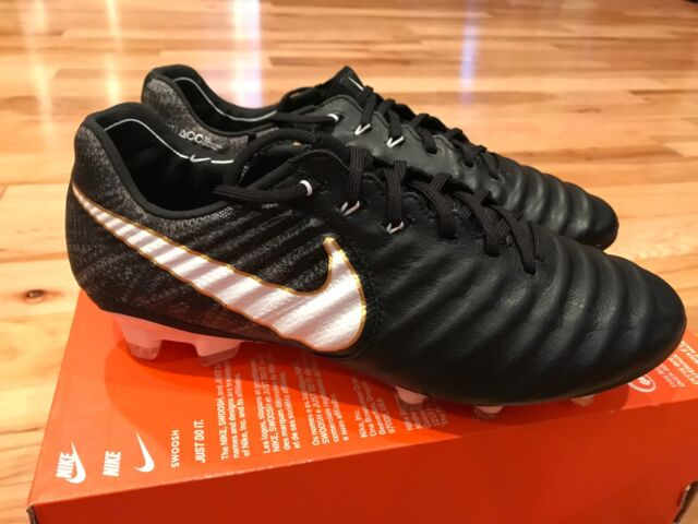 24b7f6f71f7 Nike Tiempo Legend VII FG White Gold Black Soccer Cleats 897752-002 ...