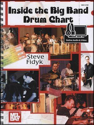 Doeltreffend Inside The Big Band Drum Chart Music Book/audio/video Study Same Day Dispatch Gematigde Kosten