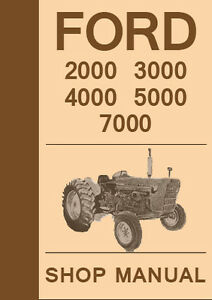 ford tractor      series workshop manual   ebay