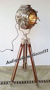 Image Is Loading VINTAGE STYLE DESIGNER NAUTICAL STUDIO TRIPOD FLOOR LAMP