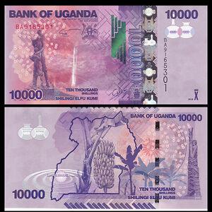 P-NEW 52d Shillings Uganda 10000 2016 2015 10,000 UNC