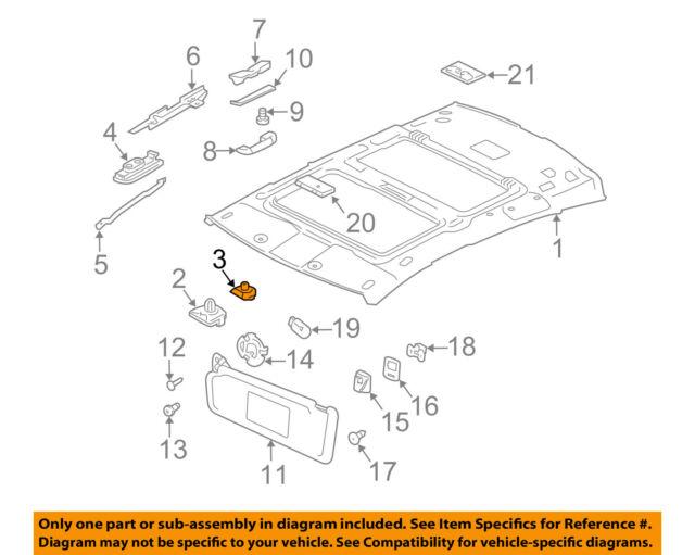 jaguar oem 10 16 xj interior roof headliner clip c2d22431 ebay