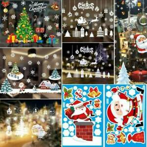 Christmas-Wall-Stickers-Window-Glass-Home-Decorations-Sticker-Decals-Mural-US
