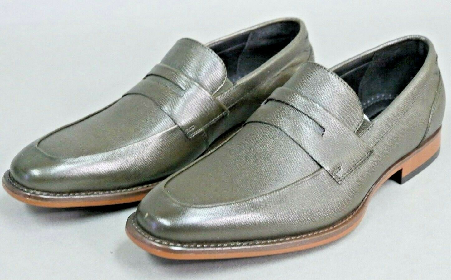 Bar III 3 Beau Textured Penny Loafers shoes Size 8M  GREEN