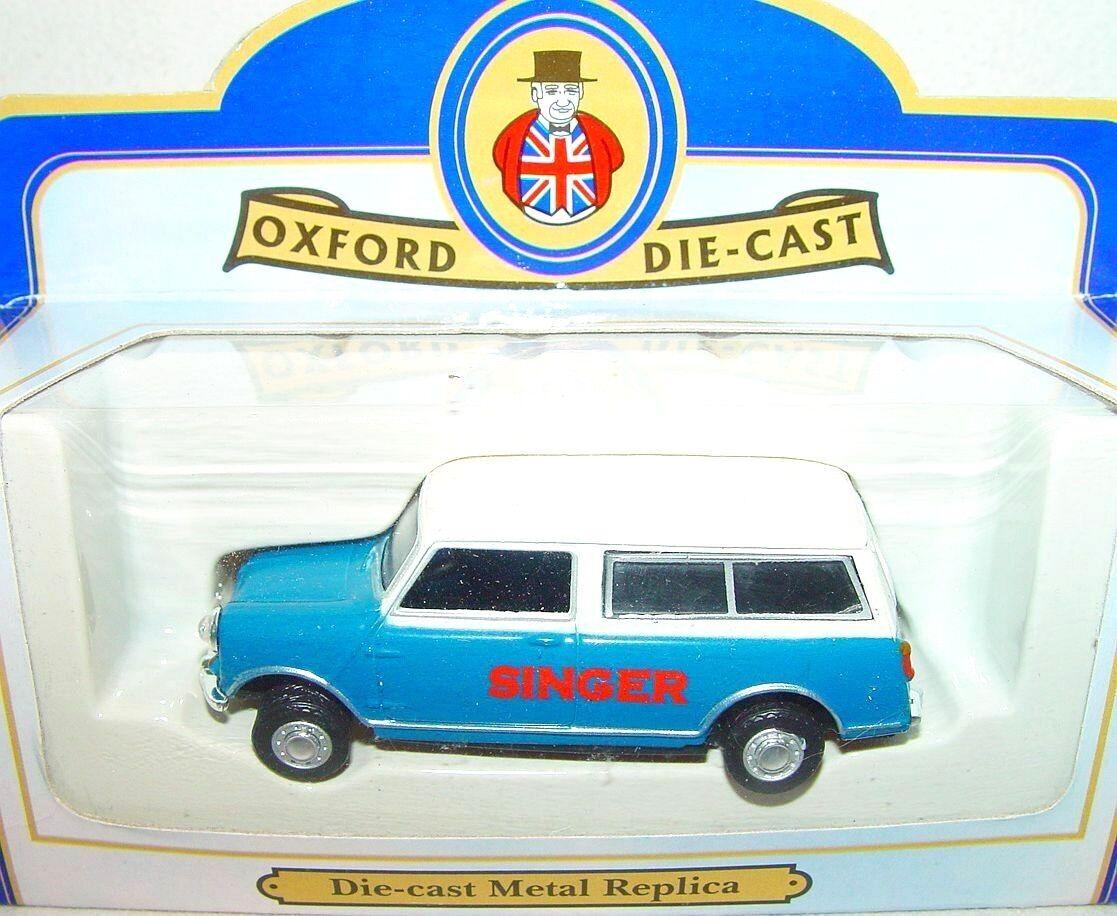 Oxford Die-Cast 1 43 AUSTIN MORRIS MINI PANEL VAN  SINGER  Commercial Car MIB`85