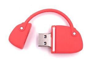 f9a2dad0065af Das Bild wird geladen Handtasche-Rot-USB-Stick-8GB-16GB-32GB-64GB-
