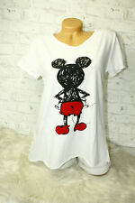 36 38 40 42 blogger weiß Italy New Collection Mickey Mouse T-Shirt schwarz Gr