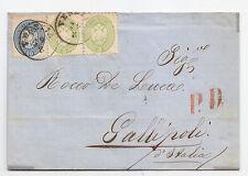 Y453-VENETO-LETTERA DE VENEZIA A GALLIPOLI 1865