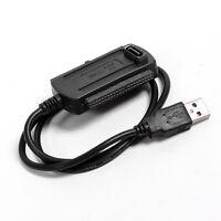"USB 2.0 zu 2,5"" / 3,5"" IDE SATA S-ATA Festplatten Konverter Adapter Kabel 9859"