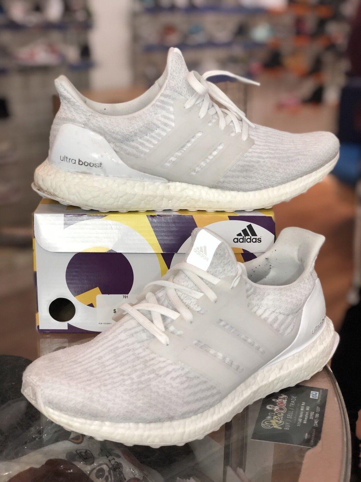 Adidas Ultra Boost Triple White 3.0 Running Uomo Running 3.0 BA8841 Size 9.5
