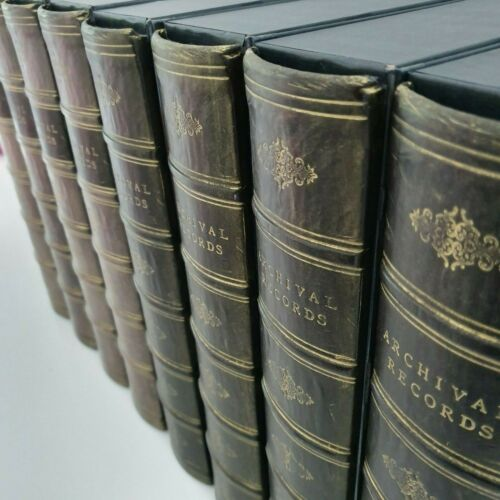 x8 A4//Foolscape Black//Grey Antique Decor Office Storage Book Box Files -DecBOOKS