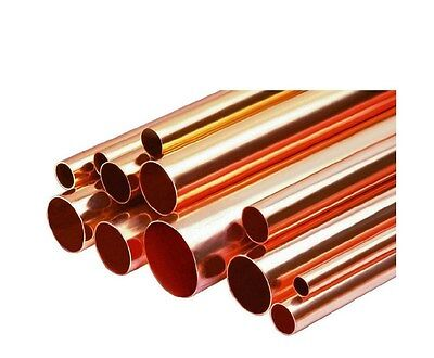 "1"" Inch Copper Pipe/Tube x One Foot Length ""Type L"""