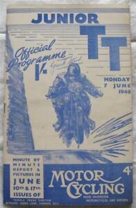 ISLE OF MAN TT 7 Jun 1948 Junior Official Programme