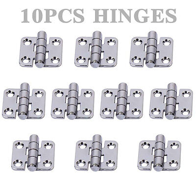 """2X Stainless Steel Cast Deck Hinges for Marine Boat //Door //Cabinet//Table 1.4/"""""""