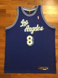 Details about Authentic Nike Los Angeles Lakers HWC Kobe Bryant Road Away Blue Jersey 56