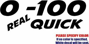 0 to 100 Racing Decal Sticker JDM Funny Vinyl Car Window Bumper Truck Laptop 7""