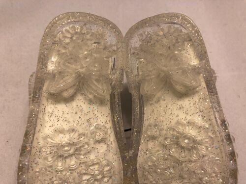 Bébé Sandales Chaussures Gelée Claire Taille 2 3 4 5 6 filles Infant Kids